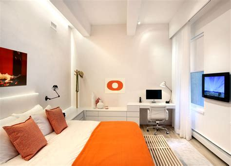 orange master bedroom new york duplex apartment by ghislaine vinas interior design interiorzine