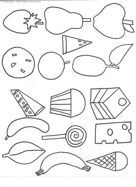 coloring page hungry caterpillar the hungry caterpillar coloring page timeless