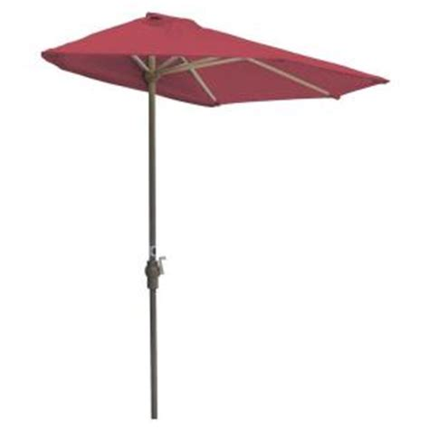 compact home depot olefin the wall brella half canopy