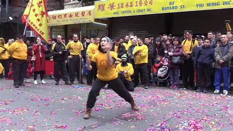 new year 2018 chinatown nyc yee s hung gar kung fu demonstation new year on