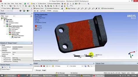 ansys tutorial design optimization pdf ansys shape optimization doovi