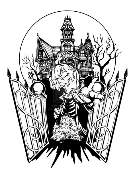 halloween tattoo designs spooky house by iamrafsusername on deviantart