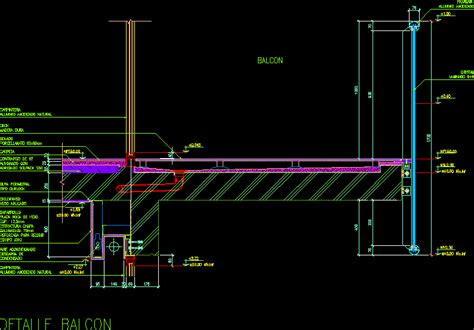 balcony detail dwg detail  autocad designs cad