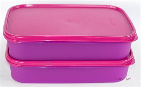 Tupperware Signature Rectangular Purple tupperware rectangular shelf saver 2 2l purple with seal