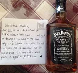 will s 7 year anniversary gift totally pin worthy jackdanielsno7 makes me smile