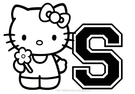 Hello Kitty Coloring Pages With Letters | hello kitty coloring pages