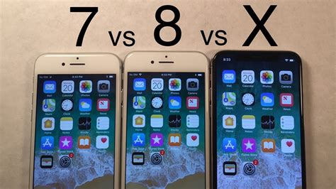 iphone x vs iphone 8 vs iphone 7 speed test comparison