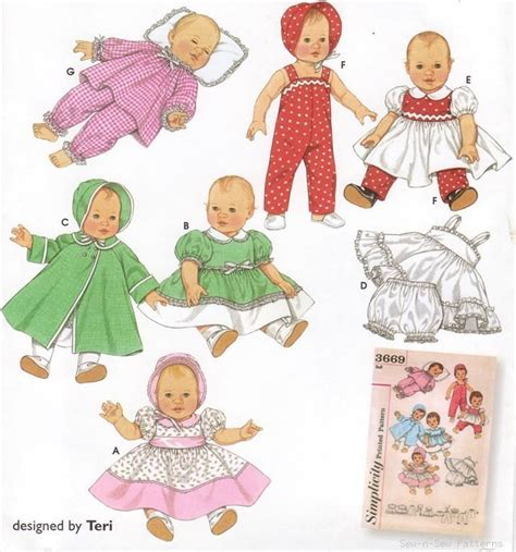 vintage clothing patterns dolls images
