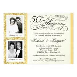fancy 50th anniversary invitations your photos 5 5 quot x 7 5 quot invitation card zazzle