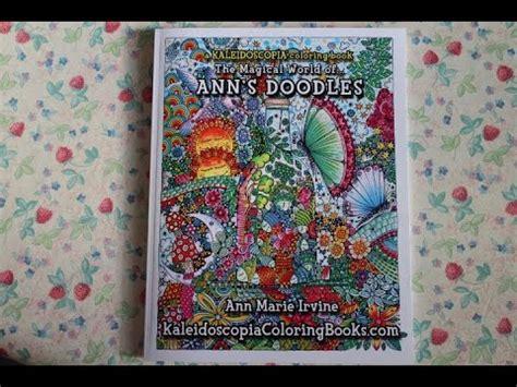 anns doodles a kaleidoscopia the magical world of ann s doodles a kaleidoscopia coloring book youtube