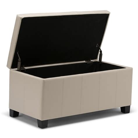 cream storage bench faux leather storage bench in cream axcot 223 cr
