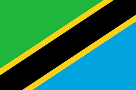 flags of the world green white black file flag of tanzania svg wikipedia