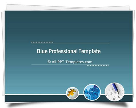 Powerpoint Blue Professional Intro Template Professional Powerpoint Template Free