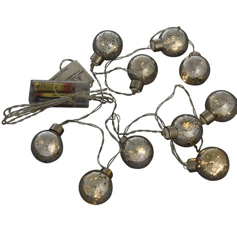 silver battery powered decorative lights by i love retro