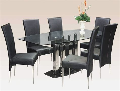 glass dining table for 6 glass dining table for 6 intended for glass