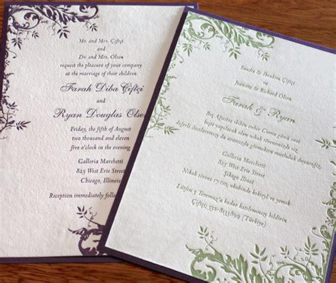 Bilingual Wedding Invitation Layouts Letterpress Wedding Invitation Blog Bilingual Wedding Invitation Templates