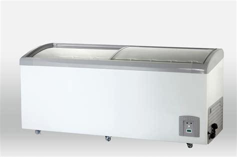 glass door chest freezer china curved glass door chest freezer sdsc 418y china