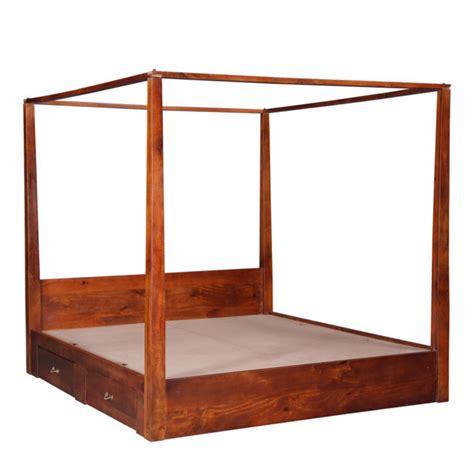 letto baldacchino legno letto baldacchino mogano etnico outlet mobili etnici