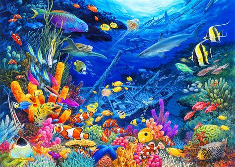 Under The Sea Wall Mural undersea wonders painting by john francis