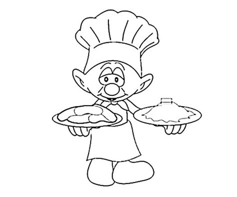 baker coloring page female activity sketch coloring page