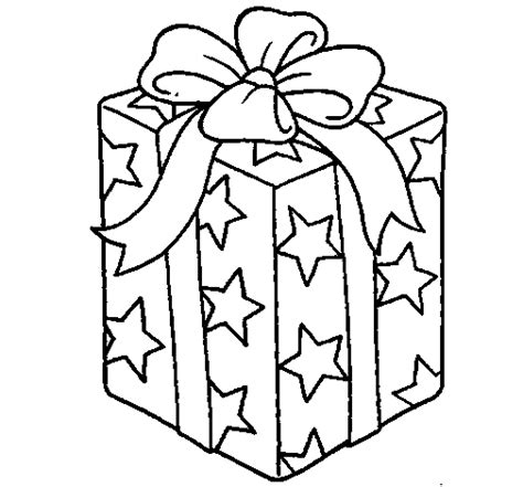 wrapped present coloring page present wrapped in starry paper coloring page