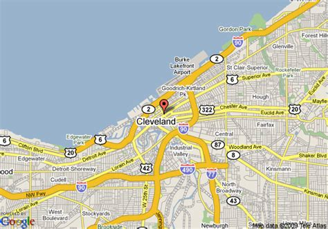 downtown cleveland map map of hton inn cleveland downtown cleveland