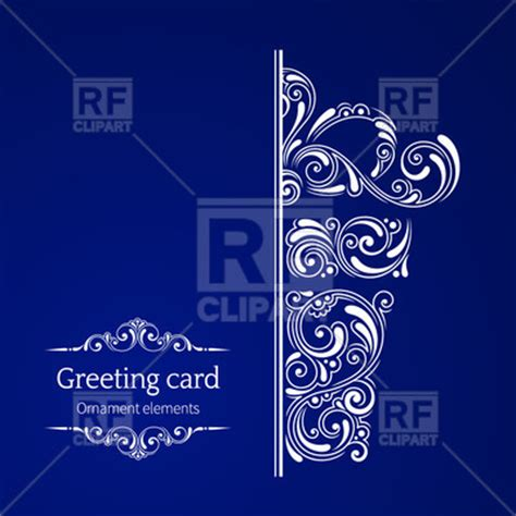 clipart greeting card template greeting card template curly floral gift box and