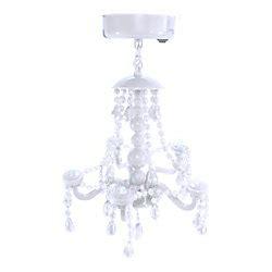 locker lounge magnetic locker chandelier 7 h x 5 14 w x 5 d white by office depot officemax