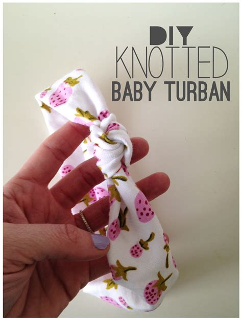 Turban Baby 03 knotted baby turban tutorial the project