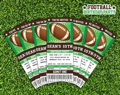 football ticket invitation template free printable football invitation templates football