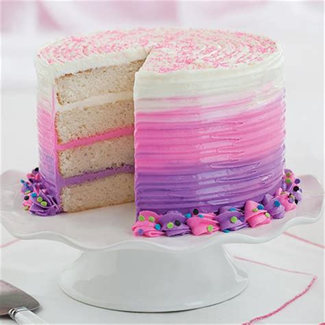 180 Sprei Bonita Eiffel Teddy No 1 bold pink purple ombre cake