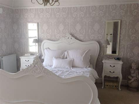 calm grey  white bedroom  laura ashley josette wall