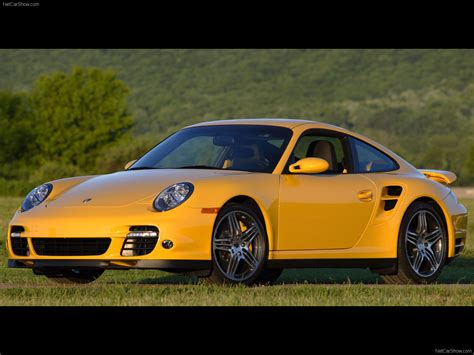 porsche yellow 2007 yellow porsche 911 turbo wallpapers