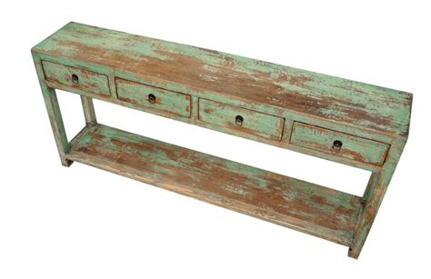 green console table with drawers custom furniture gallery