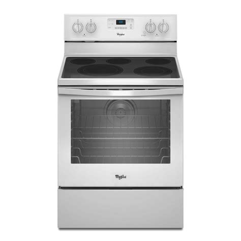 whirlpool 6 4 cu ft electric range with self cleaning