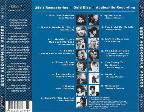 best audiophile voices best audiophile voices various artists songs reviews