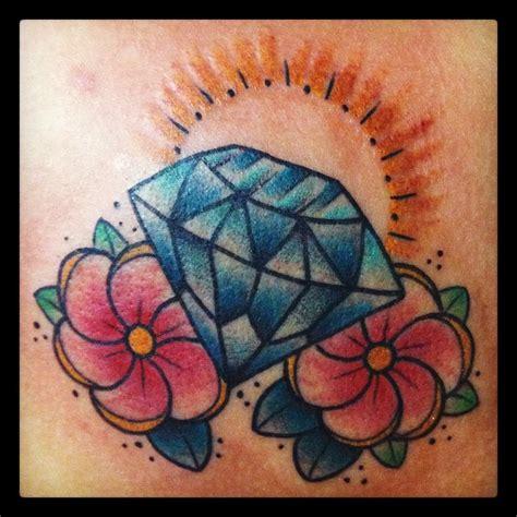 tattoo diamond flower diamond and flowers best tattoo design ideas