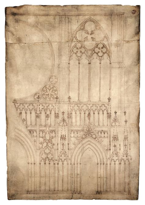 B Arch Sketches by Fa 231 Ade Of Strasbourg Cathedral Plan A1 Strasbourg