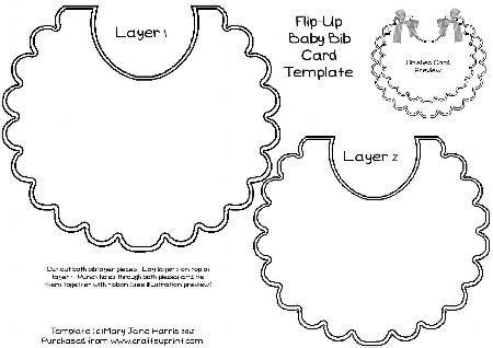 baby bib templates flip up baby bib card template cu4cu cup337254 99