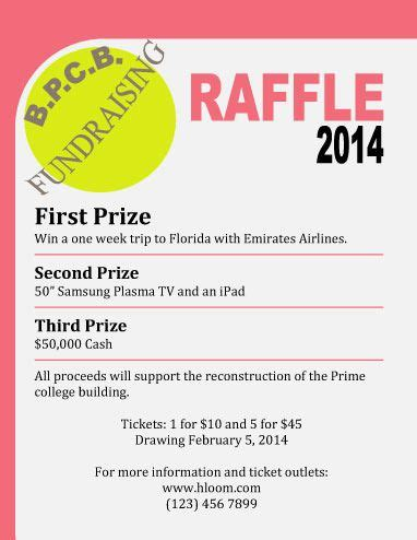 raffle flyer ticket templates images