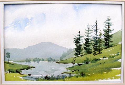 tutorial watercolor landscape painting your first watercolor landscape art watercolor