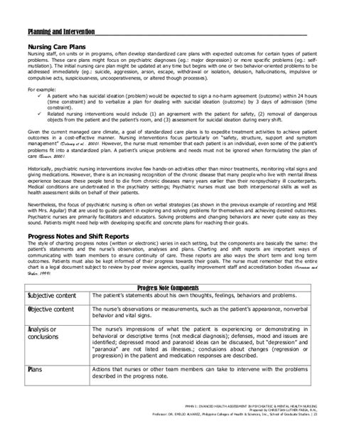 Cris Luther S Advanced Health Assessment In Psychiatric Mental Health Comprehensive Mental Health Assessment Template