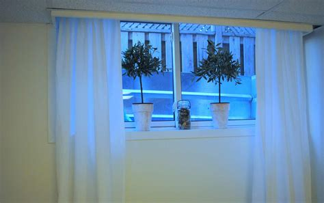 Curtains For Basement Windows Small Basement Window Curtains Feel The Home