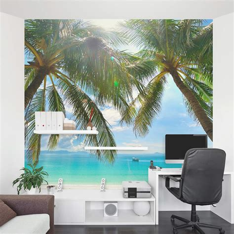Wall Murals Tropical tropical beach wall mural peenmedia com