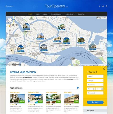 theme x google maps 1000 images about 6 of the best travel agency wordpress