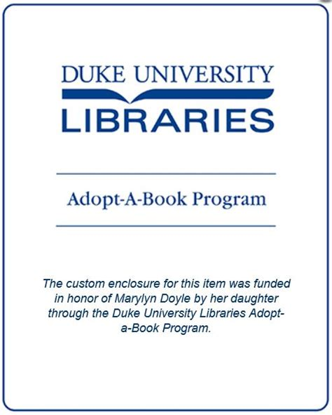 Adopt A Book by New Adopt A Book Program Supports Conservation Dept