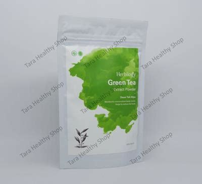 Pelangsing Green Tea herbilogy green tea extract powder 100 100 gram program diet membantu menurunkan
