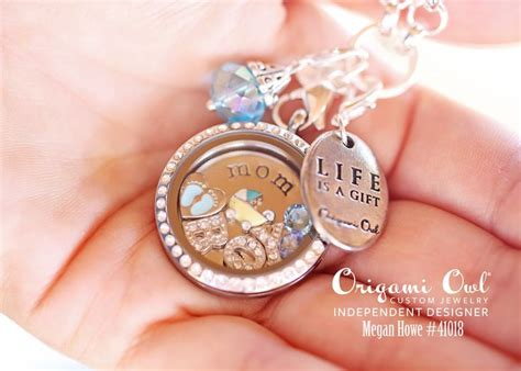 Origami Owl Baby Locket - origami owl locket baby boy footprint carriage