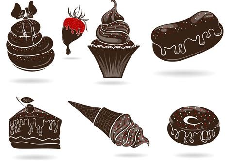 chocolate clipart and stock illustrations 78 208 set of free vector sweets with chocolate download free