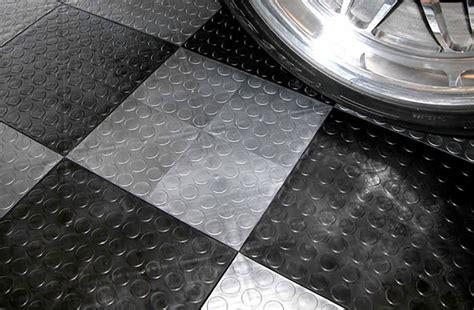 Plastic Garage Floor Tiles Coin Grid Loc Tiles Designer Plastic Garage Floor Tile